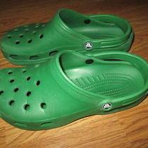 Mens Crocs Sandals  Sz  Mens 11 Green Photo