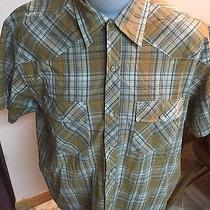 Mens Dickies Pearl Snap Western Shirt Plaid Size Large Photo