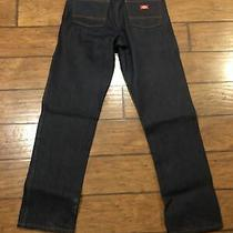 Mens Dickies Relaxed Straight Fit 5 Pocket Work Jeans Pants Dark Blue 33x34 Photo
