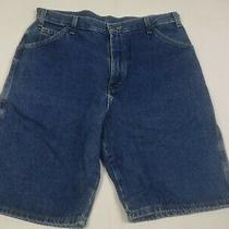 Mens Dickies Retro Size W36 Blue Wash Relaxed Casual Summer Denim Jeans Shorts Photo