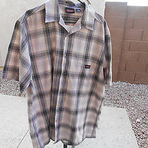 Mens Dickies Short Sleeve Checkerd Shirt Black With Other Colors Size Xl Photo