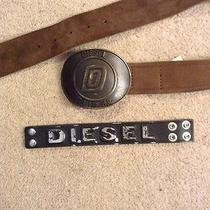 Mens Diesel Belt and Bracelet Photo