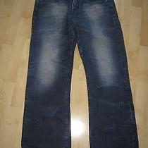 Mens Distressed Express Blake Loose Boot Cut Jeans  Size 32 X 32 Photo