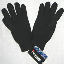 Mens Divided by h&m Thinsulate Lined Black Gloves Size S/m Photo