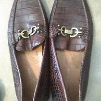 Mens Donald J Pliner Brown Croc Embossed Driving Moccasins Loafer Shoe 10.5 M Photo