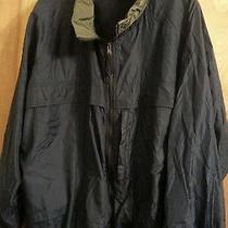 Mens Eddie Bauer Xxl Navy Windbreaker Jacket Gently Worn Photo