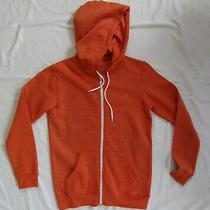 Mens Element Orange Hooded Sweat Jacket Hoodie Size Small S Photo