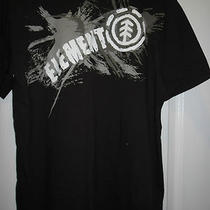 Mens Element Organic Tshirt Size Medium Dark Brown 100% Cotton Photo
