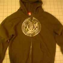 Mens Element Skateboards Hoody Hooded Sweatshirt Jacket Size L Large Army Green  Photo