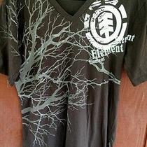 Mens Element T Shirt Size M. Brand New W/o Tags Condition Dark Brown & White  Photo