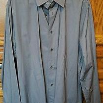 Mens - Express 1mx Shirt- Xl - Modern Fit - Gray  Photo