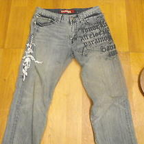 Mens Express 32x30 Jeans With Printed Design Photo