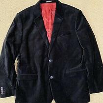 Mens Express Black Velour Blazer Suit Jacket Size 44r Photo