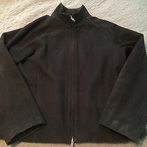 Mens Express Black Wool Jacket Coat Large Winter Photo