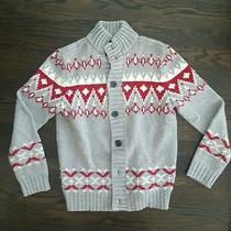 Mens Express Cardigan Sweater Small Christmas Winter Photo