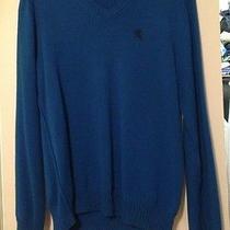 Mens Express Design Studio Blue Sweater Size Medium v-Neck Photo