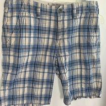 Mens Express Flat Front Plaid Shorts 31 Photo