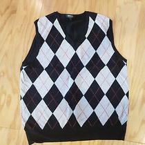 Mens Express Gray Black v-Neck Vest Size L Large  Photo