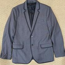 Mens Express Grey Wool Blazer Suit Jacket Size 44r Photo