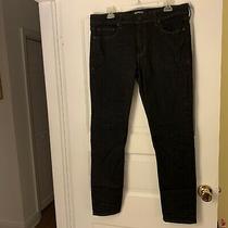 Mens Express Hyper Stretch Skinny Black Jeans Sz 34 X 32 (Closer to 35x30) Photo