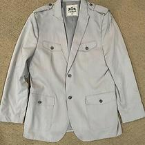 Mens Express Military Style Blazer Suit Jacket Size Large New With Tags Photo