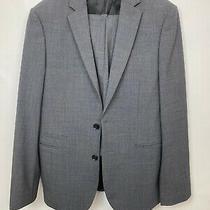 Mens Express Photographers Fitted Suit Set Dark Gray Jacket 38 Reg Pants 30/30 Photo