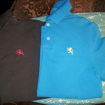 Mens Express Polos Set of 2 Aqua Blue & Brown Size Small Photo