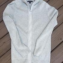 Mens - Express Sweater- M - Zipper Collar - Ribbed Knit - Gray Cotton Photo