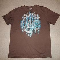 Mens Express Tee Shirt Brown Size Large Photo
