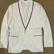 Mens Express White Tuxedo Style Blazer Suit Jacket Size 44l Photo