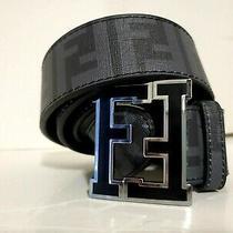 Mens-- Fendi Belt --- Size 34 ---- Black Photo