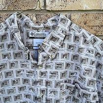 Mens Fishing Outdoor Shirt Columbia Sportswear Large Sailfish Theme Hawaiian Photo