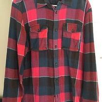 Mens Flannel Element Long Sleeve Fall Winter Medium Red Blue  Photo