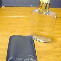 Mens Fossil Bifold Wallet Grained Black Leather card&bill Pocket With Flask Used Photo