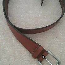 Mens Fossil Leather Belt Size 38 Tan/light Brown With Silver Tone Buckle Photo