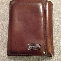 Mens Fossil Leather Wallet Photo