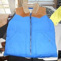 Mens Fossil Puffer Western Vest Size M Retail  198 (Blue) Photo