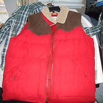 Mens Fossil Puffer Western Vest Size M Retail  198 (Red) Photo