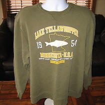 Mens Fossil Sweater Vintage Minnesota Fishing L/s Mens Size Large Photo