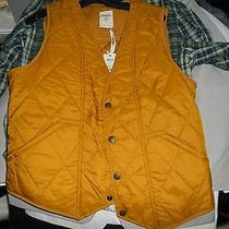 Mens Fossil Vest Nwt Size M Retail  88 (Gold) Photo