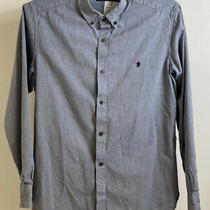 Mens French Connection Formal Shirt Large 100% Cotton Button Collar Photo