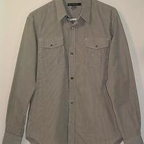 Mens French Connection Grey Check 100% Cotton Shirt Size Medium M Photo