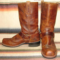 Mens Frye Brown Leather Campus Harness Motorcycle Boots 11.5 D Very Goodcond Photo