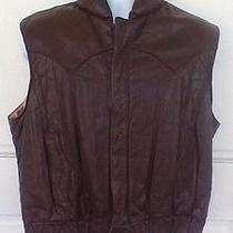 Mens Frye Insulated  Leather Vest Sz L Photo