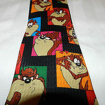 Mens Fun Tie Necktie  Looney Tunes Mania Taz  Lot T27 Photo