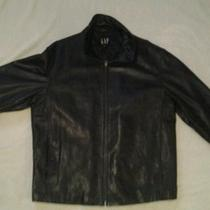 Mens Gap  Extra Large Genuine Leather Jacket Bike Riding Coat  Photo
