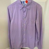 Mens Gap Long Sleep Button Down Shirt Purple 100% Cotton Size Small Photo