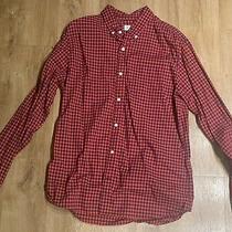 Mens Gap Red Gingham Shirt Size L Photo
