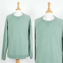 Mens Gap Sweatshirt Plain Green Crew Neck Sweater Xxl 2xl Photo