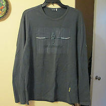 Mens Giorgio Armani Jeans Solid Crewneck Shirt Size L Solid Gray Long Sleeve Photo